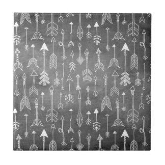 Chalkboard Arrow (black) Ceramic Tile
