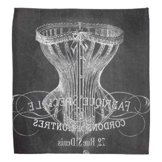chalkboard art french scripts vintage corset do-rags