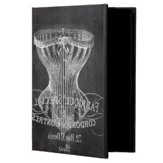 chalkboard art french scripts vintage corset iPad air case