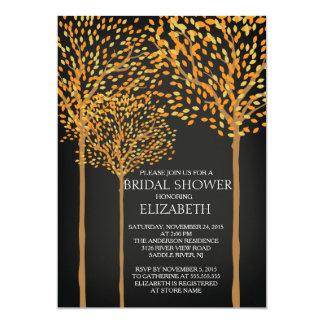 Chalkboard Autumn Trees bridal Shower Invitation