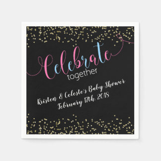 Chalkboard baby combined joint friends celebration disposable napkin