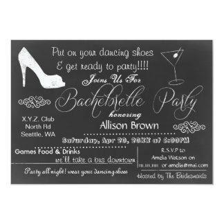 Chalkboard Bachelorette Party Invitations