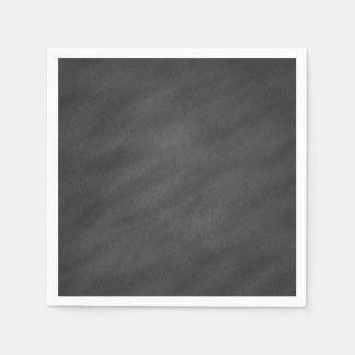 Chalkboard Background Gray Black Chalk Board Blank Disposable Napkin