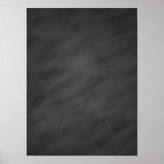 Chalkboard Background Grey Black Chalk Board Blank Poster