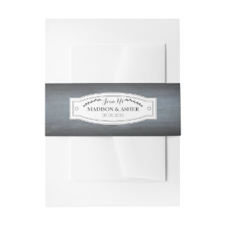 Chalkboard Badge Belly Band Invitation Belly Band