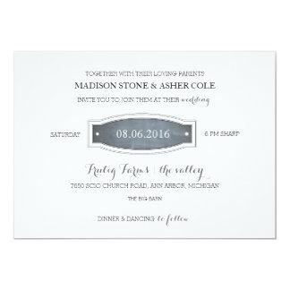Chalkboard Badge Wedding Invitation