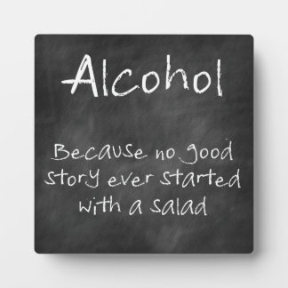 Chalkboard Bar Sign With Funny Quote Photo Plaque