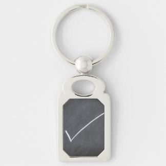 Chalkboard Blackboard Background Checkmark Style Key Ring