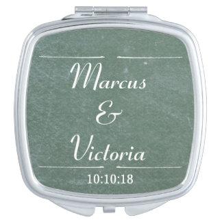 Chalkboard Blackboard Wedding Anniversary Mirrors For Makeup
