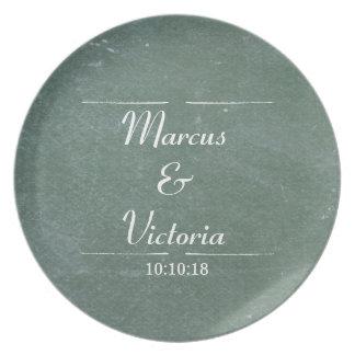 Chalkboard Blackboard Wedding Anniversary Plate