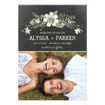 Chalkboard Blooms Save The Date Cards Personalized Invites