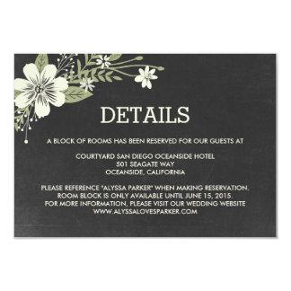 Chalkboard Blooms Wedding Enclosure Cards