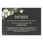 Chalkboard Blooms Wedding Enclosure Cards Invite