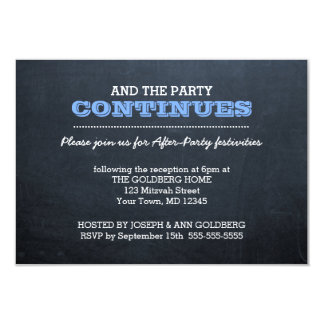 Chalkboard Blue After Party Invitation