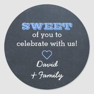 Chalkboard Blue Sweet Treat Bag Sticker