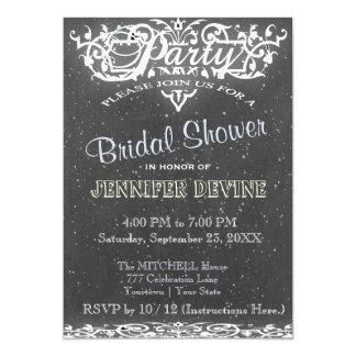 Chalkboard Bridal shower Invtation 13 Cm X 18 Cm Invitation Card