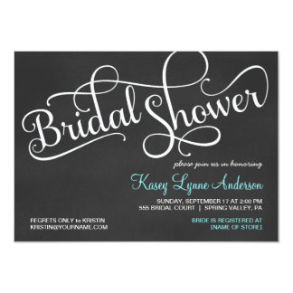 Chalkboard Bridal Wedding Shower Invitations