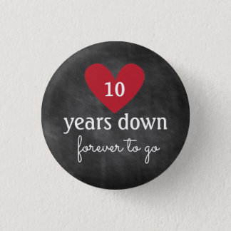 Chalkboard Button | Anniversary Favor