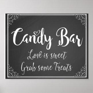 chalkboard Candy Bar Love is sweet wedding print
