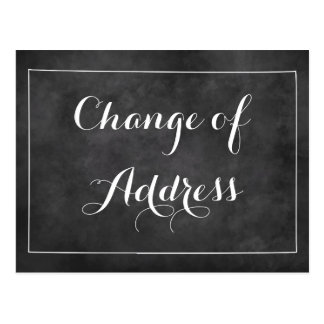 Chalkboard change of address moving postcards