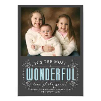 Chalkboard Cheerful Holiday Photo Flat Cards