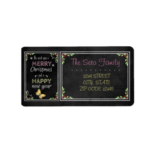 Chalkboard Christmas Collection Label