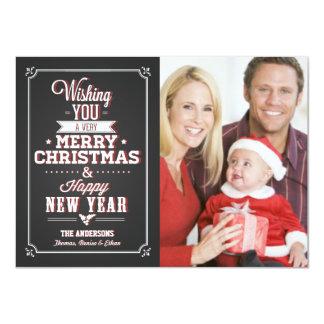 Chalkboard Christmas Holiday Photo Card 11 Cm X 16 Cm Invitation Card