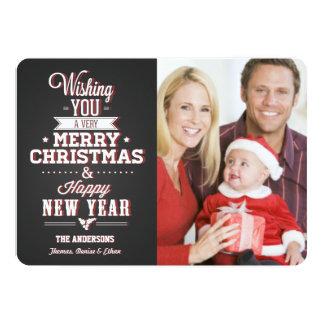Chalkboard Christmas Holiday Photo Card 13 Cm X 18 Cm Invitation Card