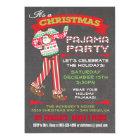 Chalkboard Christmas Pajama Party Invitations