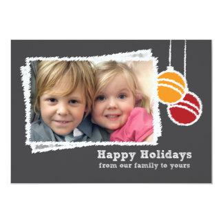 Chalkboard Christmas Photo Holiday 13 Cm X 18 Cm Invitation Card