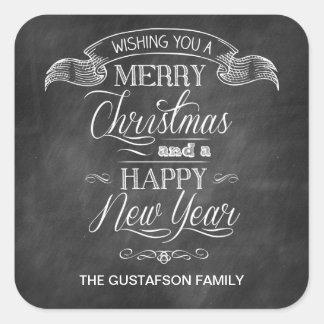 Chalkboard Christmas Wish Sticker