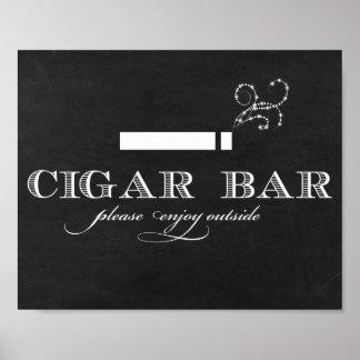 Chalkboard Cigar Bar Sign Poster