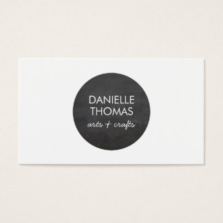 Chalkboard Circle Logo for Artists, Crafters