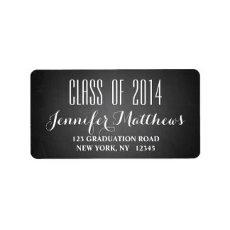 Chalkboard Class of 2014 Graduation Address Label