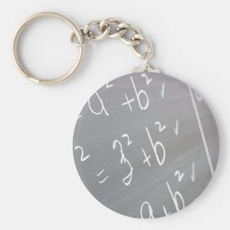 Chalkboard Closeup Key Ring