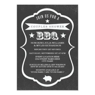 Chalkboard Couples Shower BBQ Invitation Announcement