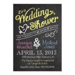 Chalkboard Couples Wedding Shower Invitation 13 Cm X 18 Cm Invitation Card