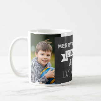 Chalkboard Custom Photo Best Aunt Christmas Mug