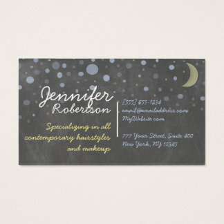 Chalkboard Design with Stars, Moon, Colored Chalk Business Card