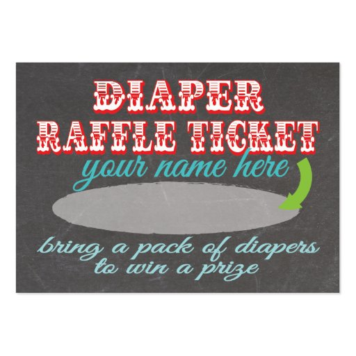Free Printable Diaper Raffle Ticket Template | New Calendar Template ...