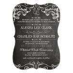 Chalkboard Die Cut Vintage Typography Invite
