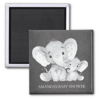Chalkboard Elephant Baby Shower Favor Magnet