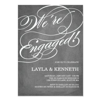 Chalkboard Engagement | Engagement Party 13 Cm X 18 Cm Invitation Card