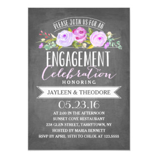 Chalkboard Engagement   Engagement Party Card