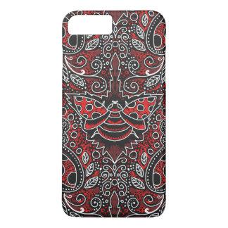 chalkboard filigree ladybug iPhone case