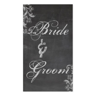 Chalkboard Floral Bridal Registry Card Business Card Templates
