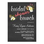 Chalkboard Floral Bridal Shower Brunch Invites 11 Cm X 16 Cm Invitation Card