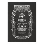 chalkboard floral mason jar rustic baby shower 13 cm x 18 cm invitation card