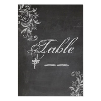 Chalkboard Floral Table Number Card Business Card