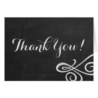Chalkboard Folded Thank You Card